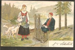 Delsbo. Sign Cp. 1902. Postmark Trelleborg-Sassnitz. - Schweden