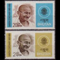 BHUTAN 1969 - Scott# 106-7 Gandhi Set Of 2 MNH - Bhutan
