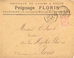PEIGNAGE FLORIS TOURCOING NORD TàD BUREAU RECETTE TYPE A3 Du 15-5-02 = 1902 - 1877-1920: Semi-Moderne