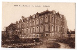 CPA POST CARD - LEGE 44 Loire Atlantique - Le Séminaire - Côté Jardin - Edit. Lollier Legé - Churches & Cathedrals