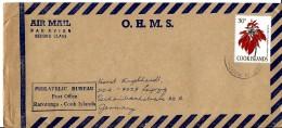 G 338 - Enveloppe Envoyée De Raratonga En Allemagne - Islas Cocos (Keeling)