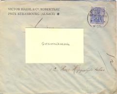 ALSACE-LORRAINE STRASSBURG ELSASS RUPRECHTSAU TàD 14/3 02 = 1902 - En-tête VICTOR HAEHL & Cie, ROBERTSAU ... - Alsace-Lorraine