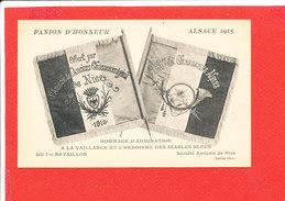Fanion D ' Honneur ALSACE 1915 Cpa Heroisme Des Diables Bleus Du 7 Eme Bataillon     Edit Giletta - Patriotiques
