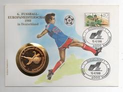 Germania - 1988 - Campionato Di Calcio Europa - Dusseldorf - Medaglia + Busta FDC Nr. 0330 -  (Vedi Foto) - Germania