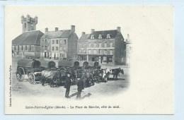 Saint-Pierre-Eglise - Place Du Marche, Cote Du Midi - Dos Simple - Edit. Librairie Le Gouley - Saint Pierre Eglise