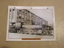 CONSOLIDATION DU LEHIGH VALLEY Locomotive Vapeur Etats Unis Amérique Usa Fiche Descriptive Ferroviaire Chemin De Fer - Fiches Illustrées