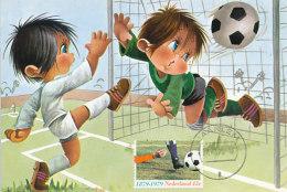 D27799 CARTE MAXIMUM CARD 1979 NETHERLANDS - SOCCER COMICAL CARD CP ORIGINAL - Soccer