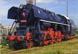 Steam Locomotive No 498-104 Of ZSR (Slovakian Railways) In Pressburg 2010   -  CPM - Trains