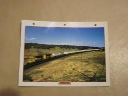 SANTA FE Locomotive  Etats Unis Amérique Usa Fiche Descriptive Ferroviaire Chemin De Fer Train - Fiches Illustrées