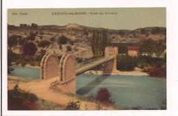 - 04 - Pont Suspendu Sur Le Verdon - Château Des Templiers - Années 1900 - - Gréoux-les-Bains