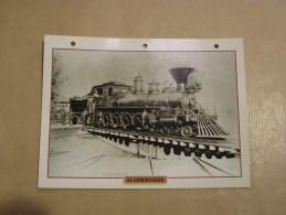EL GOBERNADOR   Locomotive Vapeur Etats Unis Amérique Usa Fiche Descriptive Ferroviaire Chemin De Fer Train - Fiches Illustrées