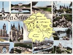 CPM POST CARD Dentellée N°81 - LA SEINE Ile De France - Département De La Seine 5155000 Hab - Edit. CIM  COMBIER Macon - Ile-de-France