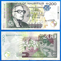 Maurice 200 Rupees 2013 Prefix BS Roupies Mauritius Island Paypal Skrill OK - Maurice