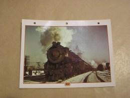 K4 Pennsylvania Rail Road Locomotive  Etats Unis Amérique Usa Fiche Descriptive Ferroviaire Chemin De Fer Train - Fiches Illustrées