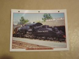 SWITCHER UNION PACIFIC Locomotive Vapeur   Etats Unis Amérique Usa Fiche Descriptive Ferroviaire Chemin De Fer Train - Fiches Illustrées