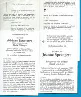 Bidprentjes   Meerle   4   Stuks    Sprangers - Images Religieuses