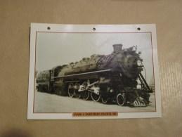 CLASS A NORTHERN PACIFIC RR  242 Locomotive  Etats Unis Amérique Usa Fiche Descriptive Ferroviaire Chemin De Fer Train - Fiches Illustrées