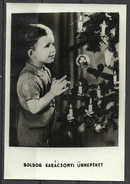 Hungary, Boy At The Christmas Tree, '70s. - Xmas