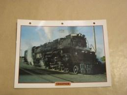 CHALLENGER   Locomotive Vapeur   Etats Unis Amérique Usa Fiche Descriptive Ferroviaire Chemin De Fer Train - Fiches Illustrées