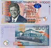 MAURITIUS       1000 Rupees       P-63       2010       UNC - Maurice