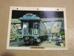 VOITURE PRIVEE Wagon Passenger Car Etats Unis Amérique Usa Fiche Descriptive Ferroviaire Chemin De Fer Train - Geïllustreerde Kaarten
