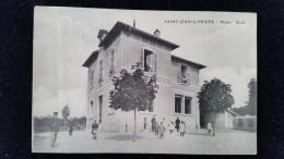 CPA D71 St Jean Le Priché Mairie école - Frankreich