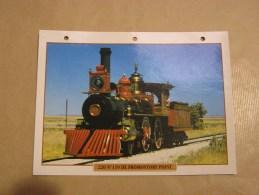 220 PROMONTORY POINT  Locomotive Vapeur Far West  Etats Unis Amérique Usa Fiche Descriptive Ferroviaire Chemin De Fer - Picture Cards