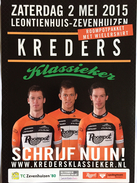 Flyer Kreders Klassieker -  Roompot 2015 - Wielrennen