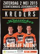 Flyer Kreders Klassieker -  Roompot 2015 - Cyclisme
