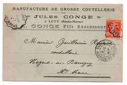 52 - Cpa - Manufacture De Grosse Coutellerie Jules Conge à LUZY - Nogent-en-Bassigny