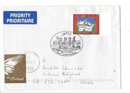 15927 - Christkindl Cover 28.12.2005 De Gosau Pour Cham CH + Vignette über Postamt Christkindl - Noël