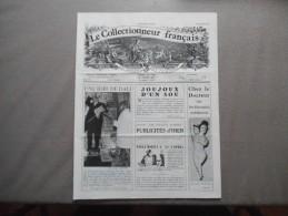 LE COLLECTIONNEUR FRANCAIS N°31 DECEMBRE 1967 UNE IDEE DE DALI,PUBLICITES D'HIER,JOUJOUX D'UN SOU.. - Collectors