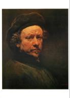 Rembrandt, Self-portrait, Art Painting Postcard Unposted - Pittura & Quadri