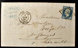 Lettre - Napoleon N°14 - ARRAS - PC 137 (B42-L2) - 1849-1876: Période Classique