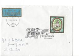 15930 - Christkindl Cover 30.12.1985  De Gosau Pour Zug CH + Vignette über Christkindl - Noël