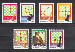 Nicaragua   -   1983.  Scacchi.  Chess. Complete MNH Set - Scacchi