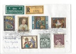 15931 - Christkindl Cover Recommandé 24.12.1984 Pour Innsbruck + Vignette über Christkindl - Noël