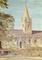 St Martin De La Bellouse Church, Guernsey Postcard Unposted - Guernsey