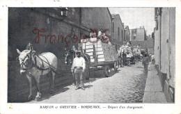 Gironde (33) BORDEAUX - Maison Barton & Guestier - Départ D'un Chargement De Vin - Wine - 1913 -   Voir Les Scans - Bordeaux