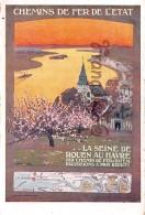 Chemins De Fer De L'Etat - La Seine De Rouenn Au Havre - Chemins De Fer