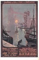Chemins De Fer Dde L'Etat De BRIGHTON - Paris à Londres Par Dieppe Et Newhaven - Angleterre - Illus René Péan LONDON - Chemins De Fer