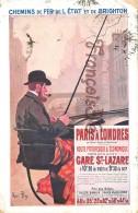 Chemins De Fer De L'Etat Et De Brighton - Paris à Londres Depuis Gare St Lazare - Illus René Péan - London - Chemins De Fer