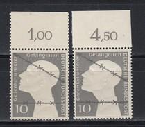 Bund 1953 MiNo. 165 ** Oberrand Platte Dgz Und Ndgz