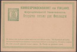 Finlande 1874. Carte Postale, Entier à 8 P. Fraîcheur Postale (Michel P5) - Finlandia