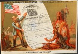 Chromo & Image Dorée - AUX FABRIQUES De FRANCE - Passeport Américain - En B. état - Other