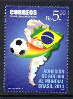 BOLIVIE BOLIVIA 1543 Mondial Football Brésil
