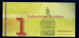 "Regionalgeld, Local Currency ""HOHENLOHER FRANKEN"""" 1 Unit, UNC, Polymer (Tyvek) - Sonstige"