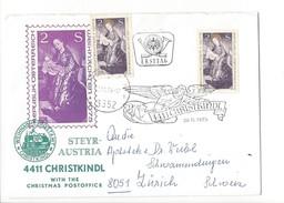 15936- Christkindl Cover 28.11.1975 Pour Zürich CH Steyr Austria - Christmas