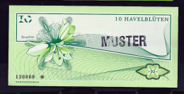"""Regionalgeld, Local Currency """"HAVELBLÜTE"""""""" 10 Units MUSTER, UNC, Polymer - Sonstige"""