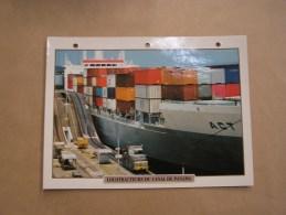 LOCOTRACTEUR CANAL DE PANAMA  Fiche Descriptive Ferroviaire Chemin De Fer Train - Picture Cards